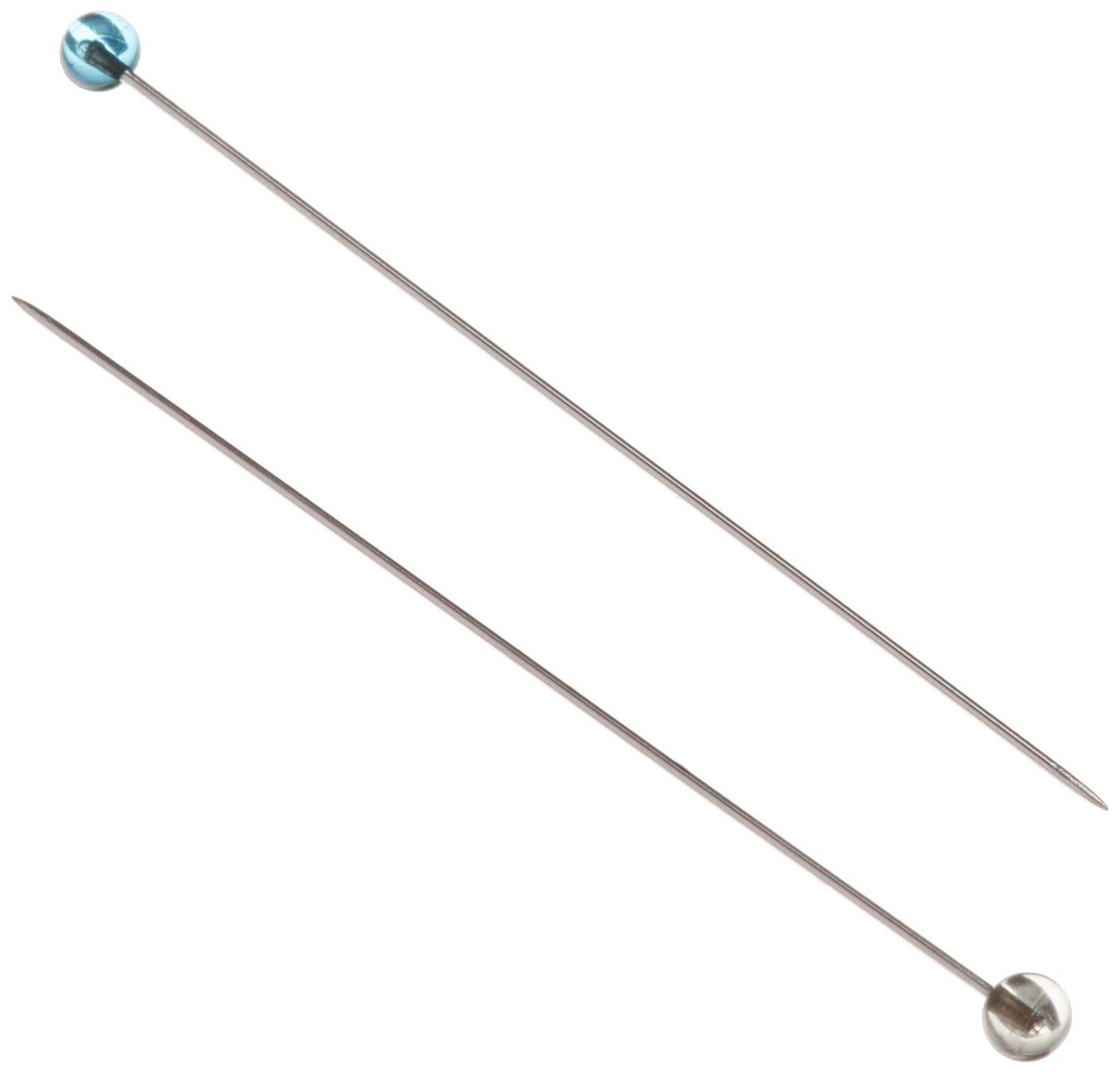 100PK OF CRYSTAL GLASS HEAD PINS, FINE SHARP-1 7/8, .5MM STEEL SHAFT Vista Partners COL110
