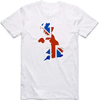 White United Kingdom Flag T-Shirt For Men