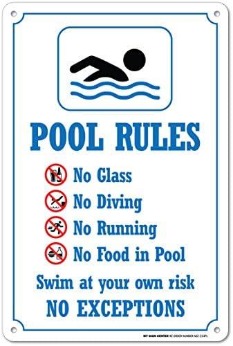 My Sign Center Swimming Pool Rules Sicherheitsschild, Kunststoff, 35,6 x 25,4 cm