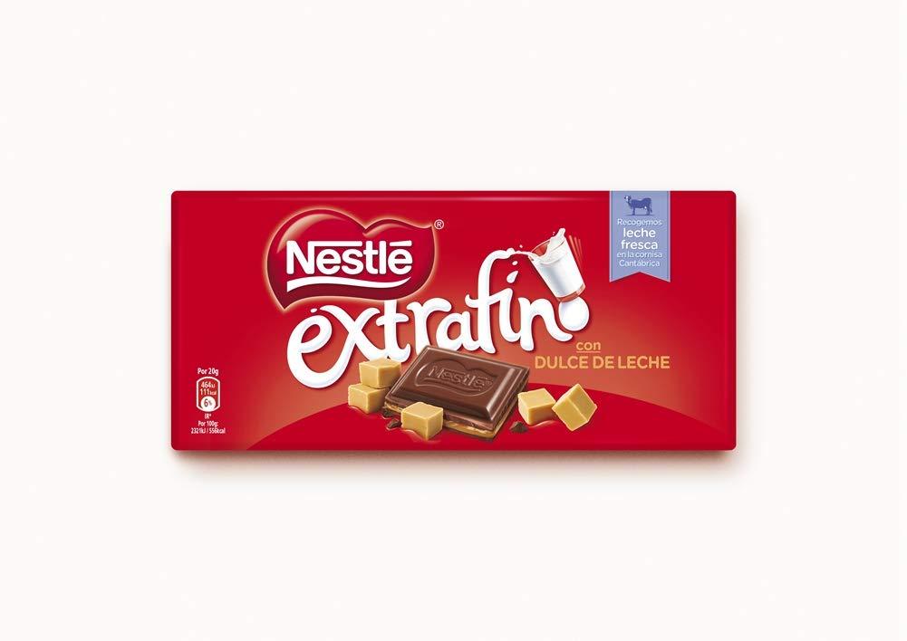 Nestlé Extrafino Dulce de Leche - Tableta de Chocolate - 25x120g: Amazon.es: Alimentación y bebidas