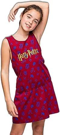 Harry Potter Vestido de Niña, Vestido Manga Corta, Ropa para Niñas, Vestido de Verano, Regalo de Niña, Tallas 8 a 14 Años