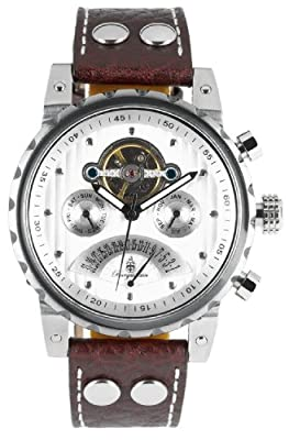 Burgmeister BM136-984 Limoges, Gents automatic watch, Analogue display - Water resistant, Stylish leather strap, Classic men's watch