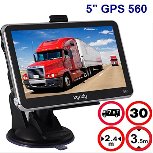 5 Inch Car Truck GPS Navigation 4GB 128M MTK FM 5