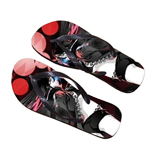 Bromeo BLACK ROCK SHOOTER Anime Unisex Flip Flops Chanclas 723