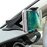 Long clip arm The clamp arm maximum opening width can fit smartphone up to 6.5 inch.for most smartphone! Easy installation & use Zombaa Dashboard Car Mount is very easy for everyone to install it. No need tools to fix your smartphones front and c...