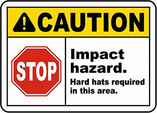 注意停止衝撃ハザード 金属板ブリキ看板警告サイン注意サイン表示パネル情報サイン金属安全サイン