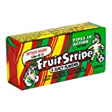 Fruit Stripe Gum, 5 Juicy Flavors, 17-Count Packs (Pack of 12)