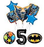 The Ultimate Batman 5th Birthday Party Supplies and Balloon Decorations