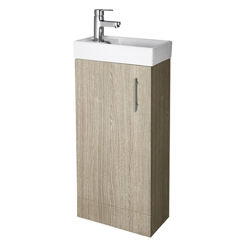 Veebath Sheen Bathroom Cloakroom Ensuite Vanity Unit And Basin  861x400x222mm Light Oak Floor Standing,pact & Useful Great Finish:  Amazon: