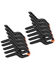 10 Pieces 2inch A Type Plastic Spring Clamps Set Adjustable Heavy Duty Spring Clamp Mini Bar Clip Set for Photo Studio Backdrops Backgrounds Woodworking DIY Projects (2inch)