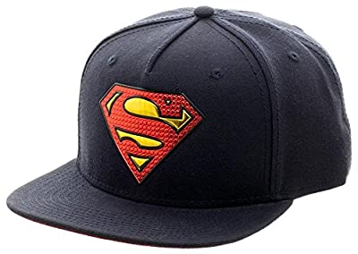 Superman- Gold Weld Logo Snapback Hat Size ONE SIZE by BioWorld