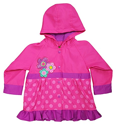 Western Chief Girls Rain Coat, Flower Cutie, 6