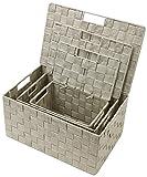 Sorbus Foldable Storage Cube Woven Basket Bin Set - Built-in Carry Handles - Great for Home Organization, Nursery, Playroom, Closet, Dorm, etc