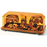 Wolo (3500M-A) Priority 1 Halogen Emergency Warning Mini Light Bar - Amber Lens, Magnet Mount