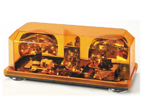 Wolo (3500M-A) Priority 1 Halogen Emergency Warning Mini Light Bar - Amber Lens, Magnet Mount (Bar Mini Halogen)