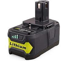 18 V 5,0 Ah ersättning för Ryobi ONE+ batteri RB18L40 RB18L50 RB18L25 RB18L13 P122 P108 P107 P105 P104 P103 P102 18V…