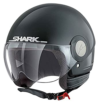 Moto Casco Jet Shark SK Easy Negro Brillante Scooter Touring Casco Moto Mujer y Hombre Talla