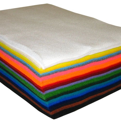 50 Sheet Assorted Acrylic Craft Felt
