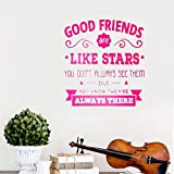 Best Are Like Stars Wall Stickers - wall decor stickers Good Friends Are Like Stars Review