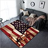 Vanfan Design Home Decorative 295926974 Hammer and gavel against united states of america flag Modern Non-Slip Doormats Carpet for Living Dining Room Bedroom Hallway Office Easy Clean Footcloth