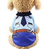 Cheap CHBORCHICEN Warm Pet Dog Clothes Cartoon Printed Small Dogs Coat Puppy Sweater Yorkie Chihuahua Clothes (Blue, XX-Small)