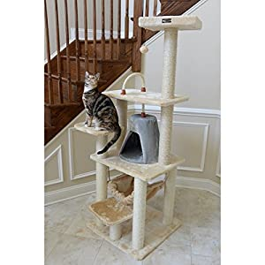 Armarkat Cat Tree Pet Multi-level Faux Fur Furniture Condo Scratcher
