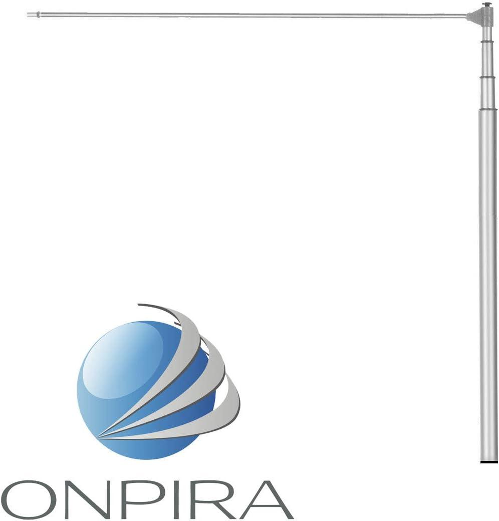Bis 5 Meter ONPIRA Fahnenmast Aluminium in 2 Gr/ö/ßen bis 5 Meter /& bis 7 Meter zum ausw/ählen Schiebemast Teleskopmast