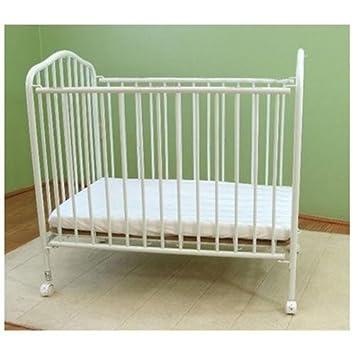 L.A. Baby Portable Crib White