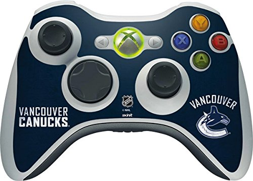 NHL Vancouver Canucks Xbox 360 Wireless Controller Skin - Vancouver Canucks Distressed Vinyl Decal Skin For Your Xbox 360 Wireless Controller by Skinit
