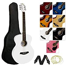 Tiger ACG2-WH - Guitarra acústica (incluye accesorios), color blanco