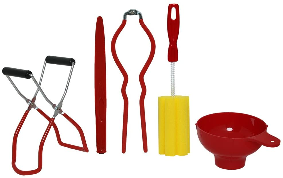 Red Home Canning Kit FivePiece Small