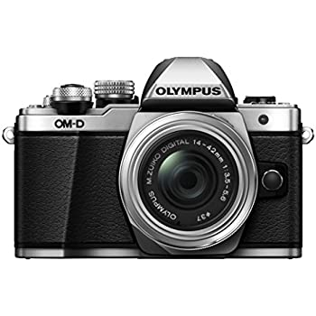 Olympus OM-D E-M10 Mark II Mirrorless Digital Camera with 14-42mm EZ Lens (Silver)