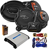 "(2) JBL GTO 939 Premium 6x9"" Co-Axial Speaker + (2) GTO609C Premium 6.5"" Component Speaker System with 4 Channel 1000W Stereo Power Car Amplifier + Amp Kit"