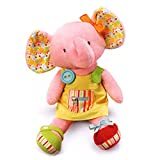 """Russ Berrie Babies Love To Learn 16"""" Elephant Activity Doll"""
