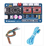 ManaSE 2 Axis Stepper Motor Controller Board Module, Dual Y-axis DIY Laser Engraver Engraving Machine Motherboard with USB and Wires