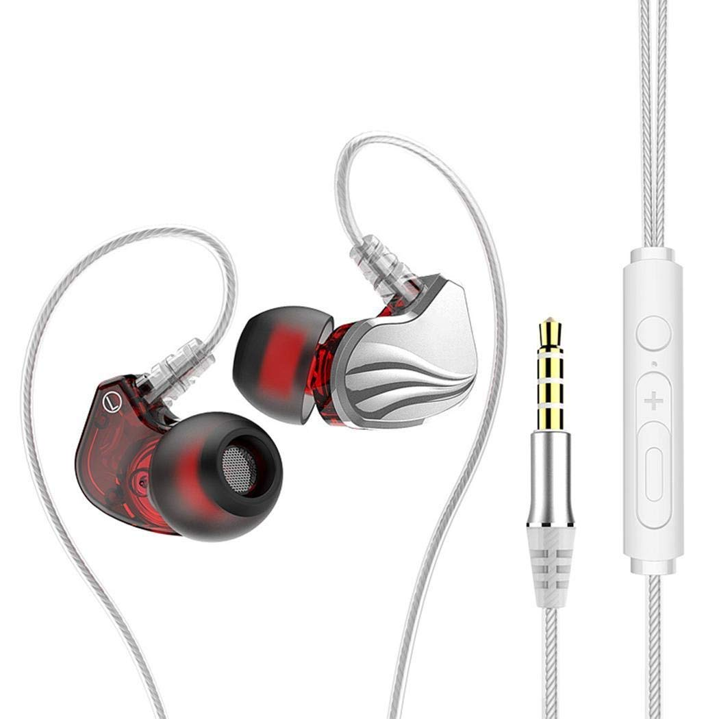 HOTUEEN In-ear Wire Control Game Sports Running Headphones with Microphone Corded Headsets