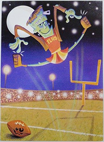 Frankencheer! Hip, Hip, Hooray for Halloween! Happy Halloween Greeting Card w/ Frankenstein Cheerleader