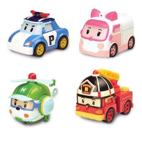 Robocar Poli Diecasting Set : Poli, Roy, Amber, Helly (Non-transformer) by Robocar Poli