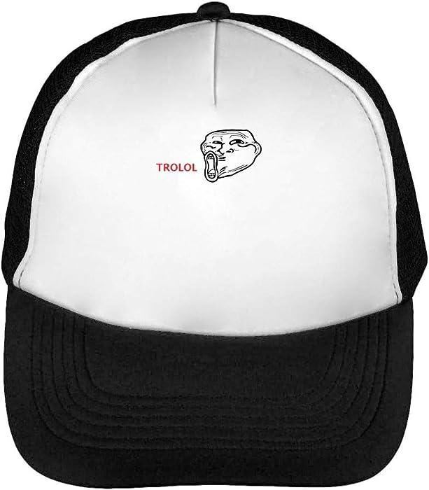 Trollface Trolol Cappello Snapback Nero Bianco  Amazon.it  Abbigliamento 2c23c1b3de14
