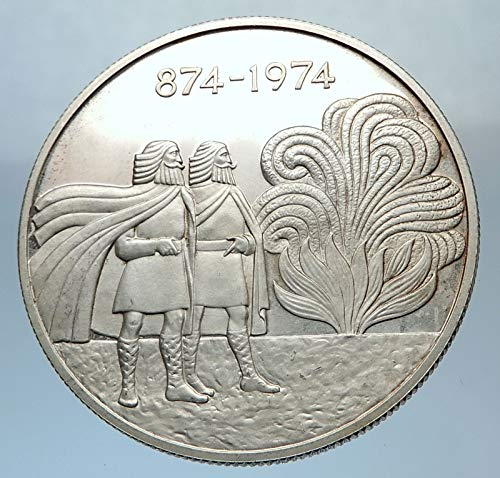 1974 unknown 1974 ICELAND with FOUR SPIRITS & VIKINGS Antique coin Good Uncertified