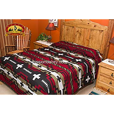 Mission Del Rey's Western Bedding Collection - Laguna Black Queen 88 x96