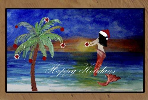 Christmas Area Rugs Floor Mats (Santa Mermaid trim a tree...