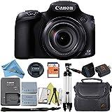 Canon Powershot SX60 Camera, 65x Optical Zoom Lens, LCD Tilt Screen + Case + 32 GB Card + Reader + 6pc Starter Set + Tripod + Extra Battery