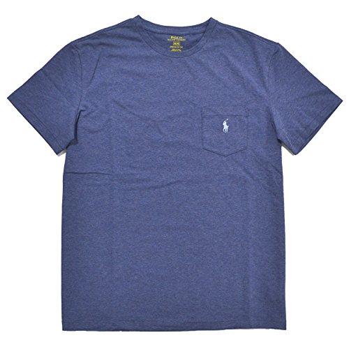Polo Ralph Lauren Mens Stretch Cotton Pocket T-Shirt (Small, Magnum Blue) (Pocket T-shirt Ralph Lauren)