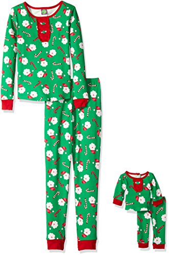 Dollie & Me Little Girls' Santa and Candy Cane Snugfit Sl...