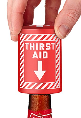 NPW W14839 Thirst Aid Automatic Bottle Opener, 3-inch, Red/White]()