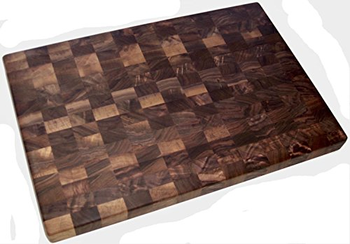 Walnut End Grain Cutting Board 12 x 18 x 1.5 Dark Butcher Block Cutting Board, Reversible Cutting Board, Dark Walnut Cutting Board, Chopping Block, Butcher Board, Cutting Block, Hardwood Cutting Board