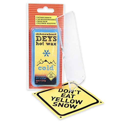 Snowboard / Ski Wax from DEYS (COLD) - Free Plexi Scraper. Gift Ready Combo (Temp Wax)