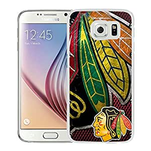 Beautiful Designed Case With Chicago Blackhawks White For Samsung Galaxy S6 Phone Case