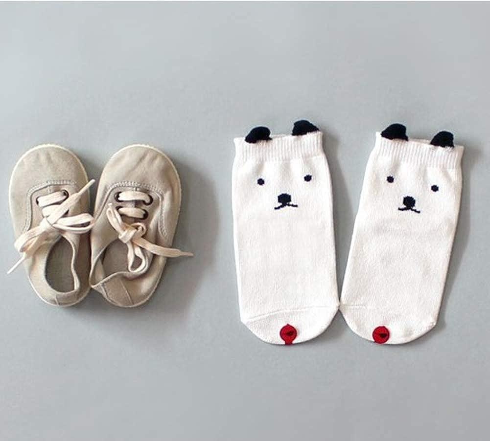 Wansan Baby Socks Cute Printing Cartoon Toddler Sock with Grips Anti-slip Socks for Baby Girl Boy